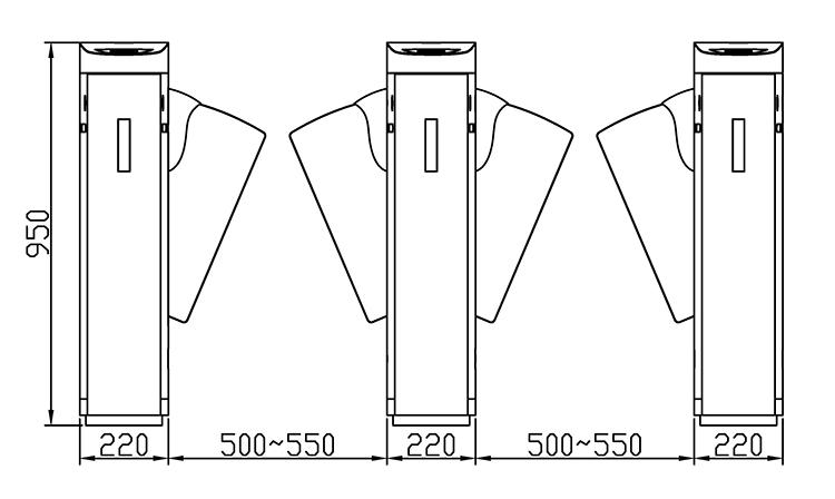 kích thước lắp đặt z1368