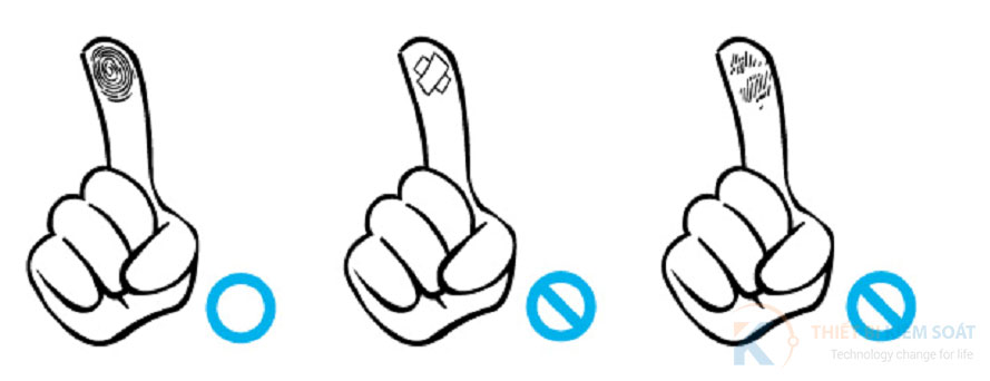 Chọn vân tay khi lấy mẫu