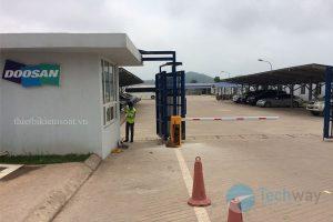 lắp đặt barrier tại nhà máy nhiệt điện doosan